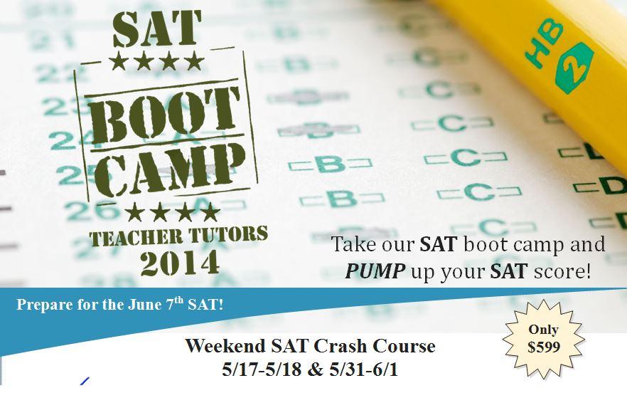 Teacher Tutors - SAT Boot Camp